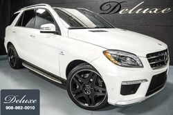 Mercedes-Benz ML 63 AMG 4MATIC, Driver Assistance Package, Navigation System, Rear-View Camera, Ventilated Leather Seats, Panorama Sunroof, 550 HP Twin-Turbo V8 Engine, Running Boards, 21-Inch AMG Alloy Wheels, 2015