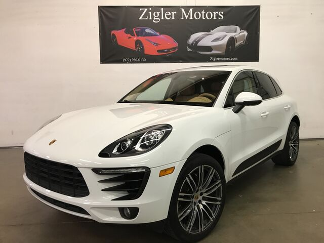 2015 Porsche Macan S 21 Turbo Wheels, Park Assist, Pano Roof, 1 Owner Clean Carfax Addison TX