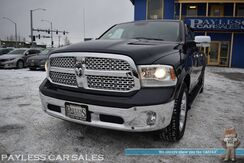 2015_Ram_1500_Laramie / 4X4 / Crew Cab / Air Suspension / Heated & Cooled Leather Seats / Heated Steering Wheel / Navigation / Sunroof / Alpine Speakers / Bluetooth / Back Up Camera / Keyless Start / Bed Liner / Tow Pkg / 1-Owner_ Anchorage AK
