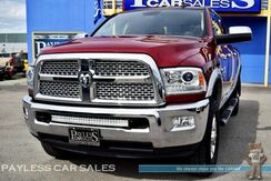 2015_Ram_2500_Laramie / 4X4 / Crew Cab / 6.7L Cummins Diesel / Heated Front & Rear Leather Seats / Heated Steering Wheel / Navigation / Sunroof / Auto Start / Alpine Speakers & Subwoofer / Bluetooth / Back-Up Camera / Tow Pkg / 1-Owner_ Anchorage AK