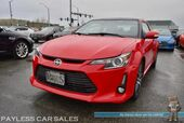 2015 Scion tC Hatchback / 6-Spd Manual / Pioneer Navigation Deck / Panoramic Sunroof / Bluetooth / USB & AUX Jacks / Painted Spoiler / Cruise Control / Fog Lights / 18in Machined Rims / Low Miles / 31 MPG