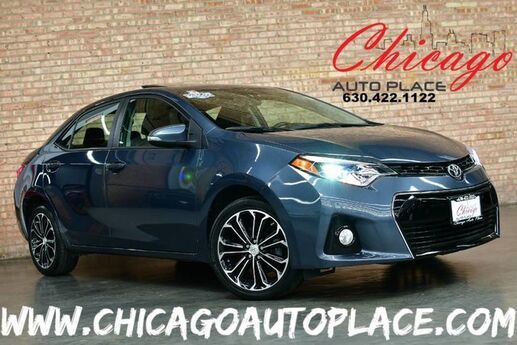 2015 Toyota Corolla S Premium - 1.8L I-4 VVT-I ENGINE 1 OWNER FRONT WHEEL DRIVE NAVIGATION BACKUP CAMERA KEYLESS GO BLACK LEATHER HEATED SEATS SUNROOF BLUETOOTH XENONS Bensenville IL