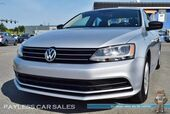 2015 Volkswagen Jetta Sedan 2.0L / 5-Speed Manual / Bluetooth / Backup Camera / Cruise Control / Push Button Start / 34 MPG / 1-Owner