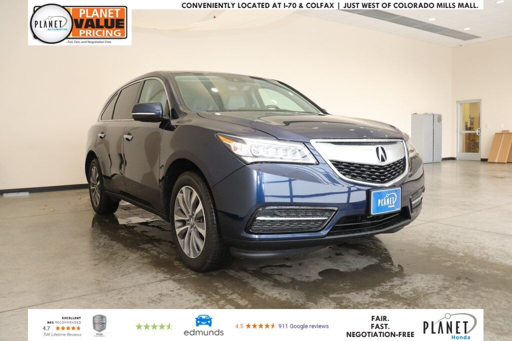 2016 Acura Mdx 3 5l W Tech Amp Ent Golden Co 26541748