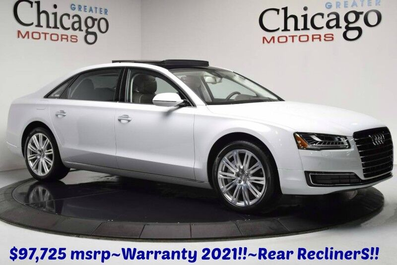 2016_Audi_A8 L Warranty until 01/21 $97,7_Audi Design Edition~Exect Package~Rear Recliners_ Chicago IL
