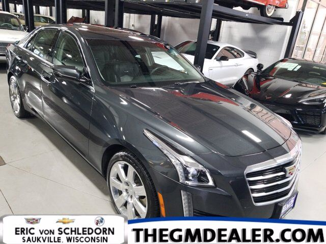 2016 Cadillac CTS Sedan Luxury Collection AWD 3.6L w/Sunroof Nav HtdCldMemLthr 18s CUE RearCamera Milwaukee WI
