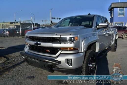 2016 Chevrolet Silverado 1500 LT / Z71 / 4X4 / Heated Seats / Auto Start / Seats 6 / Bluetooth / Back Up Camera / Front Bumper Guard / Custom Flares / XD Series Wheels / Off-Rd Tires / Bed Liner / Tow Pkg / Low Miles / 1-Owner Anchorage AK