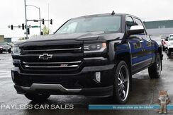 2016_Chevrolet_Silverado 1500_LTZ / Z71 / 4X4 / Crew Cab / 24 Lexani Wheels / Heated & Cooled Leather Seats / Navigation / Sunroof / Bose Speakers / Driver Alert Pkg / Auto Start / Heated Steering Wheel / Tow Pkg / 1-Owner_ Anchorage AK