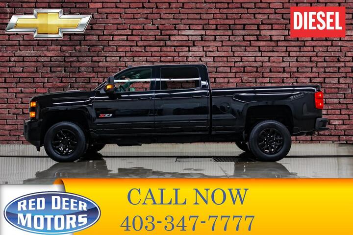 2016 Chevrolet Silverado 2500HD 4x4 Crew Cab LT Z71 Diesel Leather BCam Red Deer AB