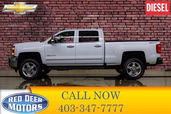 2016_Chevrolet_Silverado 2500HD_4x4 Crew Cab LTZ Z71 Diesel Leather Roof BCam_ Red Deer AB