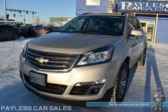 2016_Chevrolet_Traverse_LT / Power & Heated Leather Seats / Auto Start / Navigation / Bose Speakers / 3rd Row / Captain Chairs / Seats 7 / Bluetooth / Back Up Camera / Blind Spot Alert / Power LIftgate / Tow Pkg / 1-Owner_ Anchorage AK