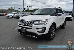 2016_Ford_Explorer_Platinum / 4WD / Ecoboost / Heated & Cooled Massaging Seats / Heated Steering Wheel / Navigation / Sunroof / Sony Speakers / Adaptive Cruise / Auto Start / Power 3rd Row / Seats 7 / Blind Spot & Collision Alert / Tow Pkg_ Anchorage AK