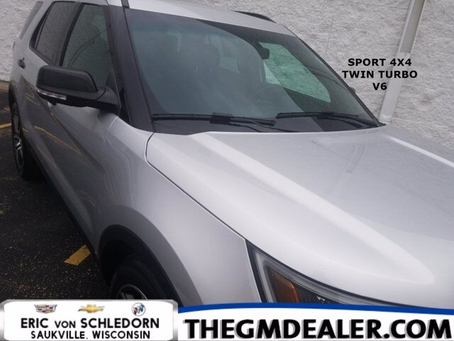2016 Ford Explorer Sport 4WD 3.5L TwinTurbo w/Sunroof Nav AdaptiveCruise HtdCldMemLthr 20s SYNC Milwaukee WI