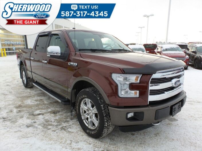 2016 Ford F-150 Lariat 4x4 - Powertrain Warranty, Remote Start, Tow Package Sherwood Park AB