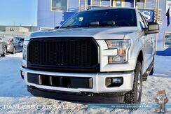 2016_Ford_F-150_XLT / FX4 Off Road Pkg / 4X4 / 3.5L Ecoboost / Crew Cab / Power Driver's Seat / Seats 6 / Bluetooth / Back Up Camera / Custom Grill / Block Heater / Tow Pkg / 22 MPG_ Anchorage AK