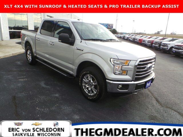 2016 Ford F-150 XLT SuperCrew 4WD 2.7L EcoBoost w/Sunroof 18sChromes HtdCloth ProTrailerBackupAssist RearCamera Milwaukee WI