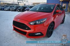 2016_Ford_Focus_ST / 6-Spd Manual / Heated Leather Seats / Heated Steering Wheel / Navigation / Sunroof / Sony Speakers / Bluetooth / Back Up Camera / 31 MPG_ Anchorage AK