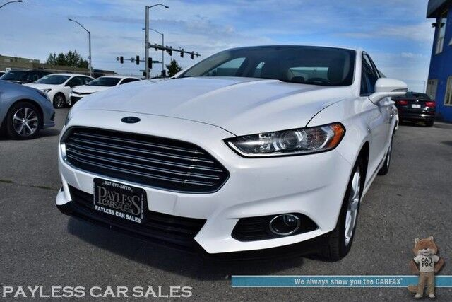 2016 Ford Fusion SE / Ecoboost / Heated & Power Leather Seats / Bluetooth / Back Up Camera / Cruise Control / Power Mirrors Windows & Locks / Air Conditioning / Alloy Wheels / 36 MPG / 1-Owner Anchorage AK