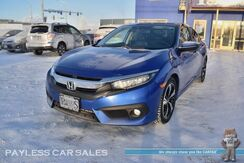 2016_Honda_Civic Sedan_Touring / Front & Rear Heated Leather Seats / Navigation / Sunroof / Adaptive Cruise Control / Auto Start / Right Side Lane Watch / Lane Departure Warning / Forward Collision Alert / Bluetooth / Back Up Camera / 42 MPG_ Anchorage AK