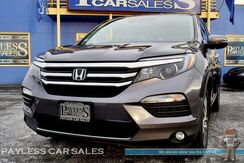 2016_Honda_Pilot_Touring / AWD / Power & Heated Leather Seats / Navigation / Sunroof / Auto Start / Rear Entertainment / 3rd Row / Seats 8 / Bluetooth / Back Up Camera / Collision Alert / 1-Owner_ Anchorage AK