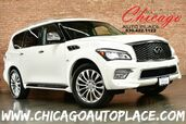 2016 INFINITI QX80 5.6L V8 ENGINE AWD 22'' WHEELS CAPTAINS CHAIRS REAR TV/DVD BLACK LEATHER INTERIOR HEATED/COOLED SEATS NAVIGATION TOP VIEW CAMERAS KEYLESS GO 3RD ROW