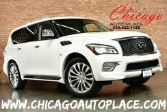 2016_INFINITI_QX80_5.6L V8 ENGINE AWD 22'' WHEELS CAPTAINS CHAIRS REAR TV/DVD BLACK LEATHER INTERIOR HEATED/COOLED SEATS NAVIGATION TOP VIEW CAMERAS KEYLESS GO 3RD ROW_ Bensenville IL