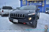 2016 Jeep Cherokee Trailhawk / 4X4 / Heated Seats / Heated Steering Wheel / Auto Start / Off Road Suspension / Bluetooth / Back Up Camera / Cruise Control / Block Heater / Only 25K Miles / Tow Pkg