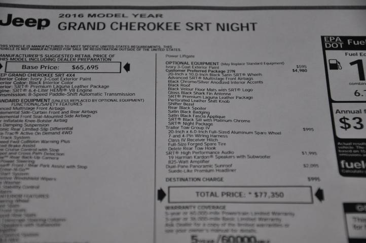2016 Jeep Grand Cherokee SRT Tomball TX