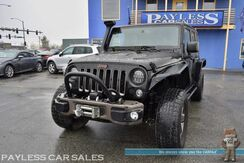 2016_Jeep_Wrangler Unlimited_75th Anniversary / 4X4 / Hardtop / Heated Seats / Automatic / Auto Start / Alpine Speakers / Navigation / Bluetooth / Snorkel / Custom Bumpers & Flares / LED Headlamps / Smitty Built Winch / Light Bar / Tow Pkg_ Anchorage AK