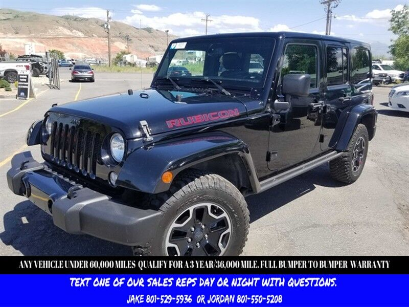 2016 Jeep Wrangler Unlimited Rubicon Hard Rock Salt Lake City UT
