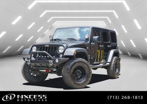 2016 Jeep Wrangler Unlimited Sport 4X4 Hard Top One Owner Clean Carfax! Houston TX