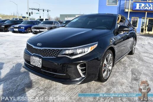 2016 Kia Optima SXL Turbo / Heated & Cooled Leather Seats / Heated Steering Wheel / Navigation / Sunroof / Harman Kardon Speakers / Adaptive Cruise / Blind Spot & Lane Departure Alert / Bluetooth / Back Up Camera / 1-Owner Anchorage AK