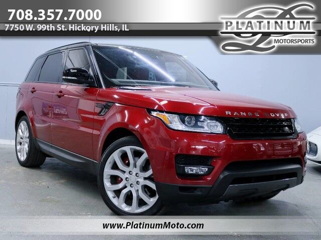 2016 Land Rover Range Rover Sport V8 Dynamic SC 1 Owner Warranty Black Roof Factory 22 Loaded MSRP $91,615 Hickory Hills IL