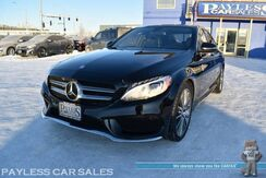 2016_Mercedes-Benz_C 300_Sport / 4Matic AWD / AMG Sport Pkg / Power & Heated Leather Seats / Navigation / Panoramic Sunroof / Burmester Speakers / Bluetooth / Back Up Camera / Blind Spot Assist / Keyless GO Pkg / 1-Owner_ Anchorage AK