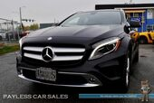 2016 Mercedes-Benz GLA 250 4Matic AWD / Power & Heated Leather Seats / Panoramic Sunroof / Bi-Xenon HID Headlights / Bluetooth / Back Up Camera / Blind Spot Assist / Cruise Control / Push Button Start / Low Miles / 1-Owner