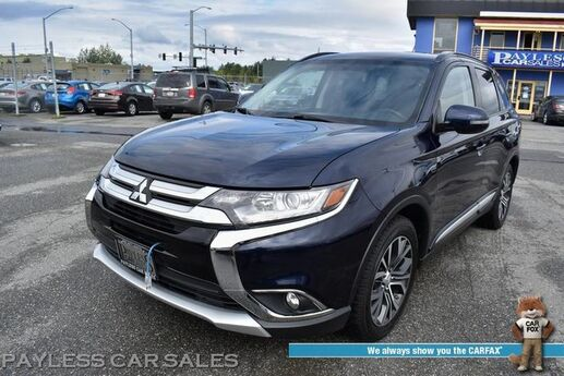 2016 Mitsubishi Outlander SEL / Auto Start / Heated Leather Seats / Rocksford Fosgate Speakers / Sunroof / Keyless Entry & Start / 3rd Row / Seats 7 / Bluetooth / Back Up Camera / Cruise Control / 31 MPG / 1-Owner Anchorage AK