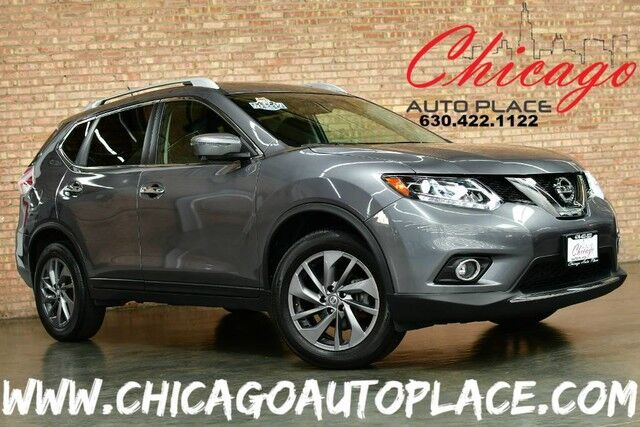 2016 Nissan Rogue SL - 2.5L I4 ENGINE 1 OWNER ALL WHEEL DRIVE NAVIGATION TOP VIEW CAMERAS PANO ROOF BLACK LEATHER HEATED SEATS KEYLESS GO BLUETOOTH Bensenville IL