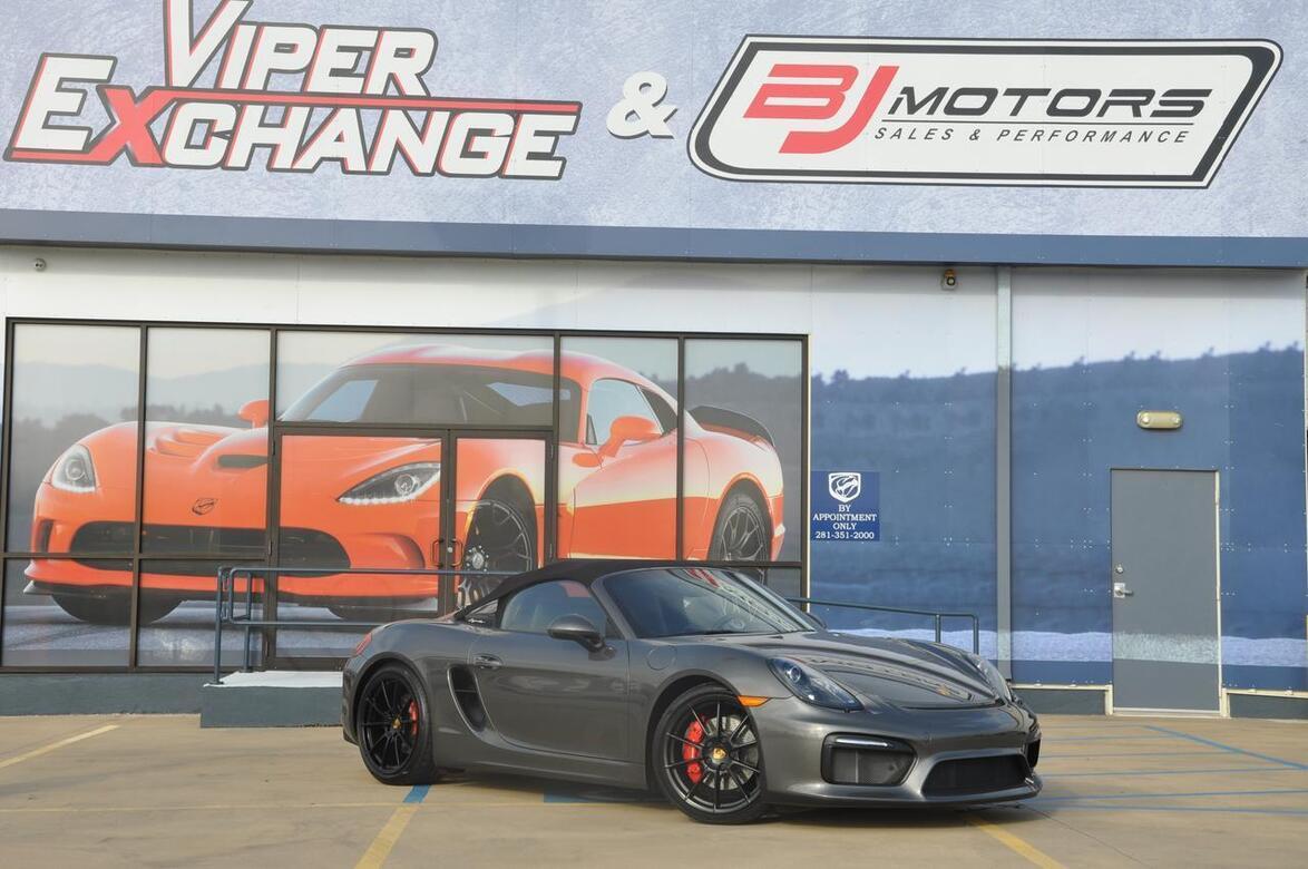 2016 Porsche Boxster Spyder Tomball TX