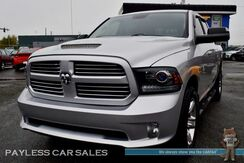 2016_Ram_1500_Sport / 4X4 / 5.7L HEMI V8 / Crew Cab / Heated & Cooled Leather Seats / Heated Steering Wheel / Sunroof / Auto Start / Alpine Speakers & Subwoofer / Bluetooth / Back Up Camera / Tonneau Cover / Tow Pkg_ Anchorage AK