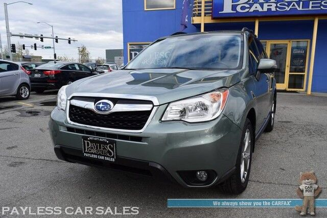 2016 Subaru Forester 2.5i Touring / AWD / Eye Sight Pkg / Power & Heated Leather Seats / Navigation / Panoramic Sunroof / Harman Kardon Speakers / Bluetooth / Back Up Camera / Adaptive Cruise / Blind Spot & Lane Departure Alert / 1-Owner Anchorage AK