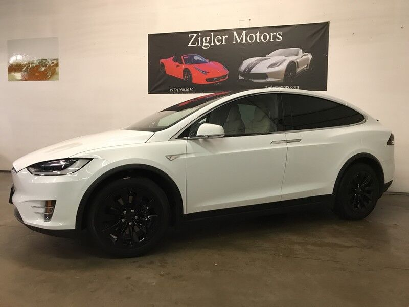 2016 tesla model x 60d awd upgraded to 75d low miles six passenger pano roof addison tx 26641903. Black Bedroom Furniture Sets. Home Design Ideas