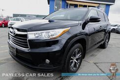 2016_Toyota_Highlander_XLE / AWD / Power & Heated Leather Seats / Sunroof / Bluetooth / Back Up Camera / Rear Captain Chairs / 3rd Row / Seats 7 / 24 MPG / 1-Owner_ Anchorage AK