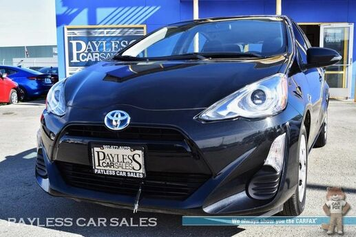 2016 Toyota Prius C Two / Hatchback / Automatic / Bluetooth / Cruise Control / Block Heater / 53 MPG / Only 20k Miles / 1-Owner Anchorage AK