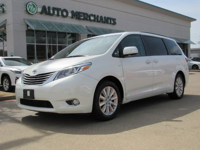 2016 Toyota Sienna Limited Premium Awd 7 Penger Leather Seats Dual Sunroof Navigation