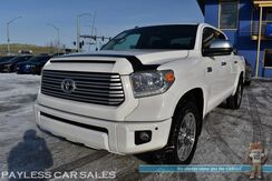 2016_Toyota_Tundra_Platinum / 4X4 / Crew Cab / Heated & Cooled Leather Seats / Navigation / Sunroof / JBL Speakers / Viper Auto Start / Blind Spot Alert / Bluetooth / Back Up Camera / Tow Pkg / 1-Owner_ Anchorage AK