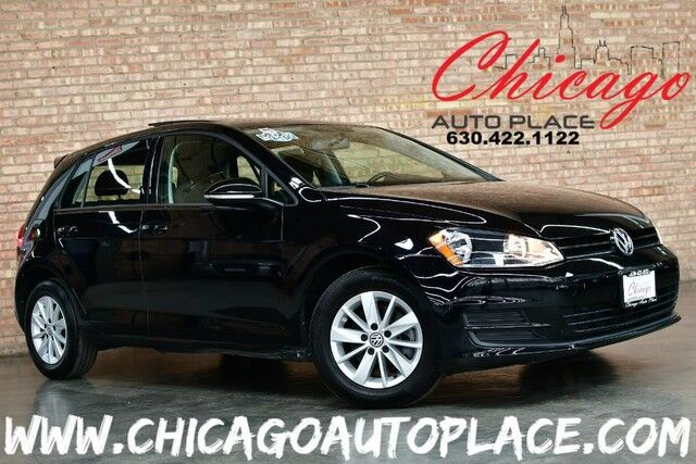 2016 Volkswagen Golf TSI S w/Sunroof - 1 OWNER CLEAN CARFAX 1.8L TURBOCHARGED 4-CYL BACKUP CAMERA BLACK CLOTH INTERIOR PREMIUM WHEELS BLUETOOTH STREAMING Bensenville IL