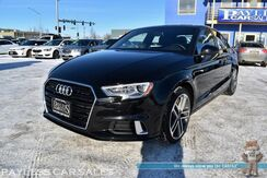 2017_Audi_A3 Sedan_Premium / AWD / Sport Pkg / Automatic / Power & Heated Leather Seats / Sunroof / Bluetooth / Back Up Camera / Keyless Entry & Start / 31 MPG / Low Miles_ Anchorage AK