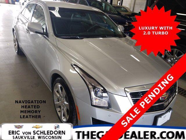 2017 Cadillac ATS Sedan Luxury 2.0L Turbo w/Nav Bose HtdMemLthr CUE RearCamera Milwaukee WI