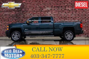 2017_Chevrolet_Silverado 2500HD_4x4 Crew Cab High Country Diesel Leather Roof Nav_ Red Deer AB