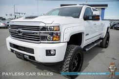 2017_Chevrolet_Silverado 3500HD_High Country / 4X4 / Crew Cab / 6.6L Duramax Turbo Diesel / BDS LIft / Heated Leather Seats & Steering Wheel / Auto Start / Navigation / Sunroof / Bose Speakers / Bluetooth / Back Up Camera / Tow Pkg_ Anchorage AK